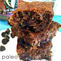 Paleo Zucchini Almond Butter Bars