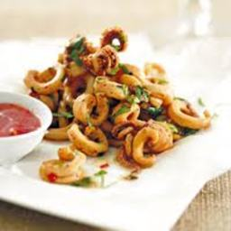 Pan-fried Calamari with Chillies