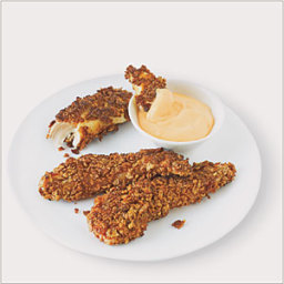 Pan-Fried Chicken Fingers with Spicy Dipping Sauce