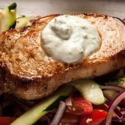 Pan-Fried Pork Chops with Yogurt
