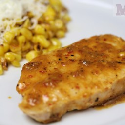 Pan-grilled Pork Chops with Mexico City & coriander glaze