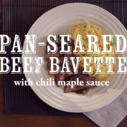 Pan-Seared Beef Bavette with Chili-Maple Sauce