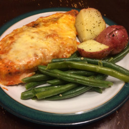 Pan-Seared Chicken Parmesan with Mediterranean Green Beans