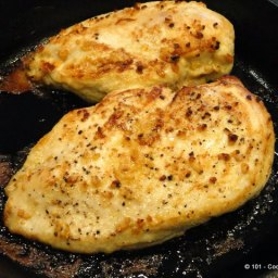 Pan Seared Oven Roasted Garlic Skinless Chicken Breast