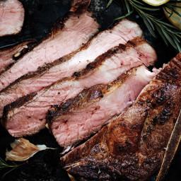 Pan-Seared Pork Blade Chop