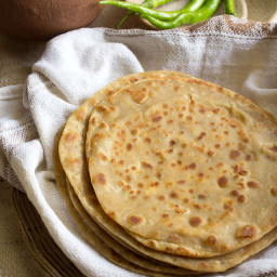 paneer paratha recipe | cottage cheese flatbread