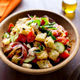 Panzanella With Mozzarella and Herbs