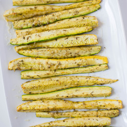 Parmesan Baked Squash And Zucchini Spears