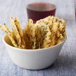 Parmesan, Basil and Lemon Wafers (Frico)