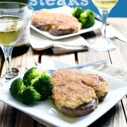 Parmesan Crusted Steaks