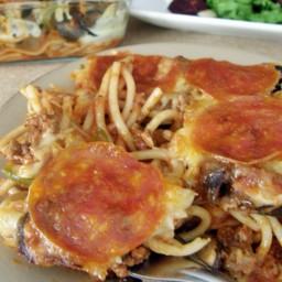 Pasta estilo pizza de pepperoni