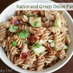Pasta Salad with Bacon and Green Onions