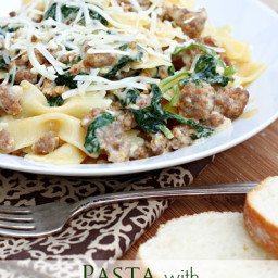 Pasta with Spicy Sausage and Rapini
