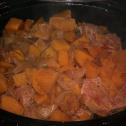Paul's Pork Chops and Butternut Squash For The Crockpot