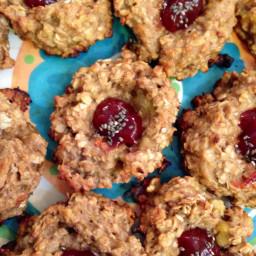 PB&J oatmeal cookies