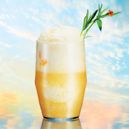 Peach and Fizzy Grapefruit Float