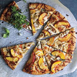 Peach and Gorgonzola Chicken Pizza