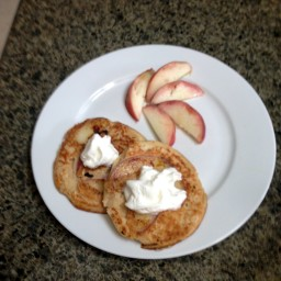 Peach and Sour Cream Pancakes