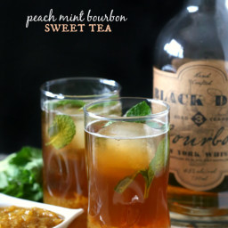 Peach Mint Bourbon Sweet Tea