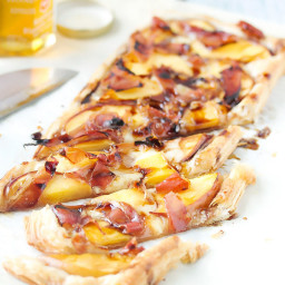 Peach, Proscuito and Brie Tart
