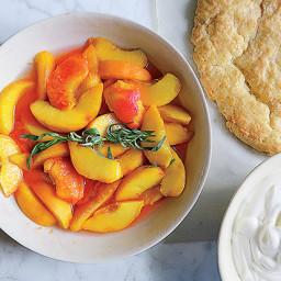 Peach-Tarragon Shortcake