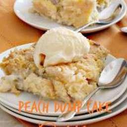 Peach Dump Cake Cobbler