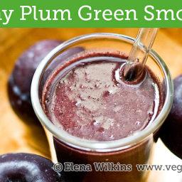 Peachy Plum Green Smoothie Recipe