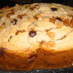 Peanut Butter and Chocolate Chip Banana Bread (Bread Machine Recipe)