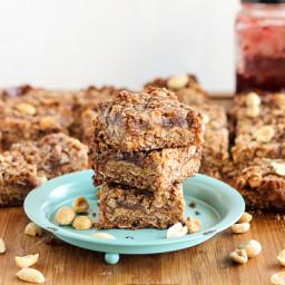 Peanut Butter and Jelly Bars (GF + Vegan)