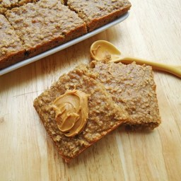 Peanut Butter Banana Oatmeal Squares