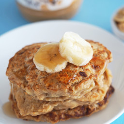 Peanut Butter Cookie Pancakes for One