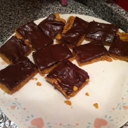 Peanut Butter Cornflake Bars (No-Bake)