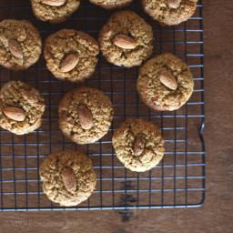 Peanut Butter Maple Almond Cookies