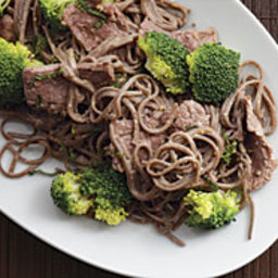 Peanut Soba with Stir-Fried Beef and Broccoli