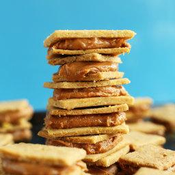 Peanut Butter Cheese Crackers (Vegan + GF)
