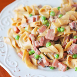 Peas, Ham, and Creamy Noodles