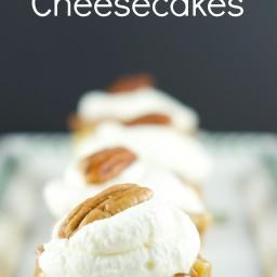 Pecan Praline Mini Cheesecakes
