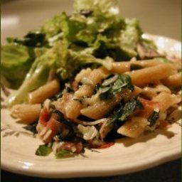 Penne with Basil and Prosciutto