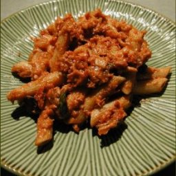 Penne with Creamy Tomato Tuna Sauce