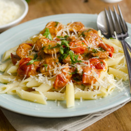 Penne In Cream Sauce with Sausage
