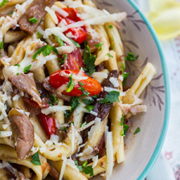 Penne with Porcini Mushrooms & Cherry Tomatoes