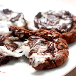 Peppermint Fudge Cookies