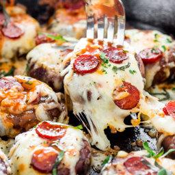 Pepperoni Pizza Stuffed Mushrooms