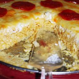 Pepperoni Ramen Pizza