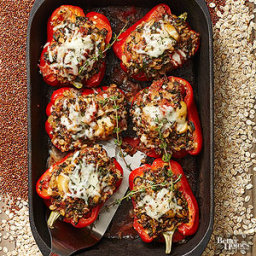 Peppers Stuffed with Quinoa and Spinach