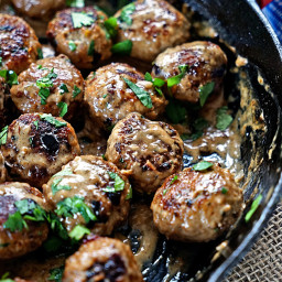 Persian Meatballs with Dried Cherries and Pistachios