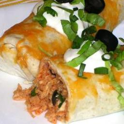 Picante Chicken Rice Burritos - BigOven