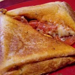 Pie Iron Pizza Sandwich