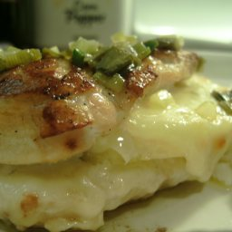 Pineapple and old cheddar stuffed chicken breasts