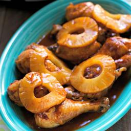 Pineapple Barbecue Chicken Drumsticks